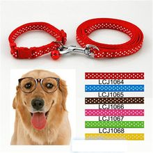 Urijk Cute Dot Dog Collars Cat Pet Collars With Bell Color Personalized Puppy Kitten Strap Collars Round Neck Accessory Bells(China)