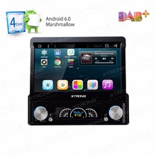 "Android 6.0 Marshmallow OS 7"" Detachable Panel Design Quad Core One Din Car DVD 1 Din Car Multimedia Single Din Car Auto Radio(China)"