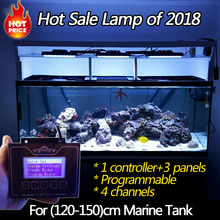 DSunY 120cm Full spectrum Dimmable led aquarium lighting for Marine fish tank Coral reef free daisy-chain with smart fan sunrise(China)