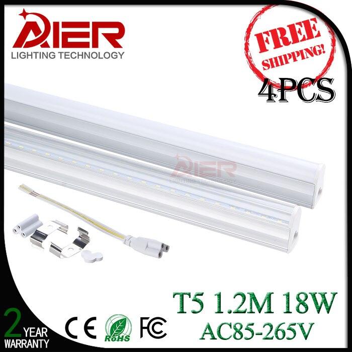 T5 led tube light 1200mm 18W, AC85-265V, 4pcs free shipping<br><br>Aliexpress
