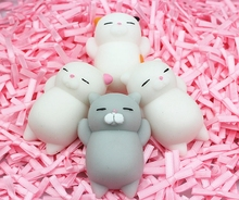Squishy Cat Kawaii Japan Mochi Animal Lazy Cat Mini Decompress Squeeze Soft Healing Toy Funny Kids Children Toys Stress Reliever