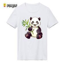 T Shirts Men panda Man T-shirt Short Sleeve China style Tees Cotton O Neck Tops Free Shipping(China)