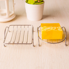 1 Pc Stainless Steel Creative Simple Fashion Stainless Steel Soap Box Soap Stand Soap Box Soap Dish Square Round Product