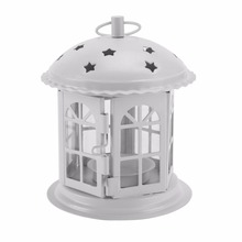 Morocco Portable Star Hollow Candle Holder Tealight Lantern Decor Garden Landscape Lighting light shade for Party Patio Yard Hot(China)