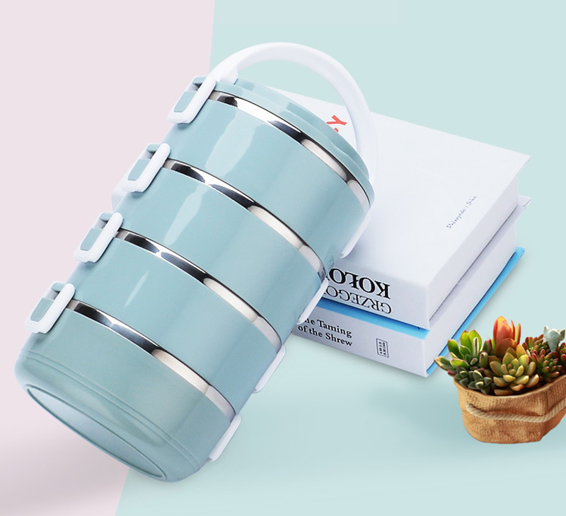 4 Layer Portable Stainless Steel Lunch Bento Boxs Japanese Style Fruit Food Storage Container For Kid School Camping Travel Sets7