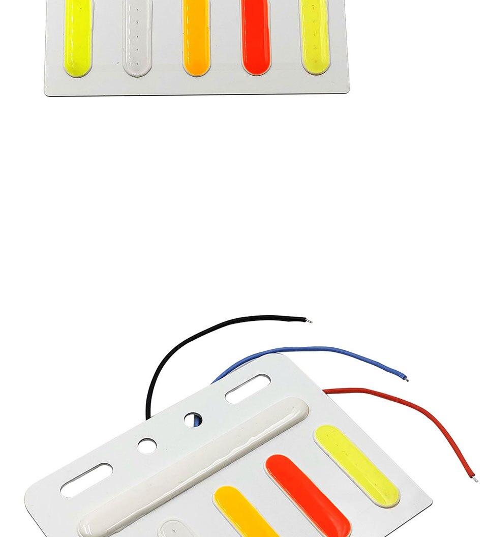 5 Colors Flash Led Lights for Truck Decoration Lamp 24V COB LED Bulb Lorry Warning Strobe Lamp DC24V LED Lighting Traffic Light (5)
