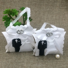 New Design 10pcs Bride and Groom Wedding Favor Boxes Gift box Candy box Handbag Style decoracao festa wedding souvenirs