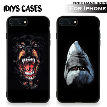 Rottweiler Shark animals Tpu Soft Silicone Phone Case Cover Shell For Apple iPhone 5 5S SE 6 6S 6Plus 6sPlus 7 7Plus 8 8Plus X(China)