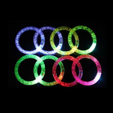 3PCS Fashion Flashing Wrist Band Happy Luminous Hand Ring Led Bracelet Children Party Toy Wholesale(China)