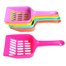 Pet Products Shovel Cat Litter Plastic Scoop Cat Sand Cleaning Dog Food Spoons Pet Supplies(China)
