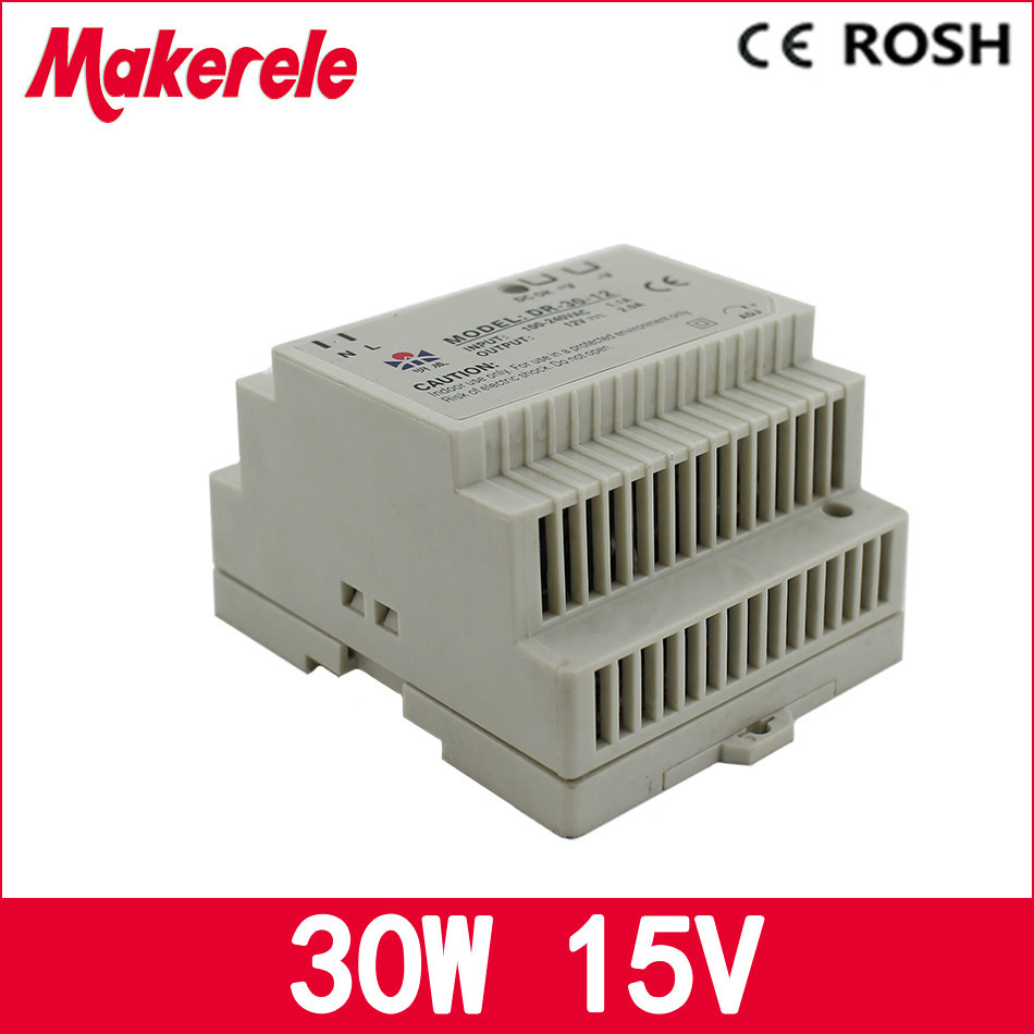 power supply 15vdc 2a 30w DR-30-15 Din rail Single Output Switching power supply ,ac dc converter<br><br>Aliexpress