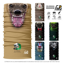 SPAIN ORIGINAL High Grade 3D Design Scarf Skull Animal Bandana Seamless Tiger Bandana Headband Cycling Scarf Face Mask 100pc/lot