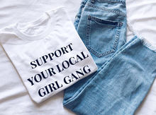 Support your local girl gang Girl Gang Girl Power Tumblr, The Future is Female Feminist T shirt girls pink t shirt casual tees(China)