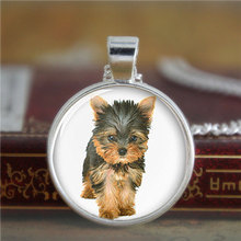 10pcs/lot Yorkie cufflinks, Yorkshire Terrier cute dog cufflinks Glass Photo dog cufflinks