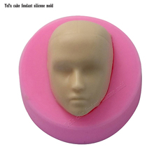 DIY Boy Face Silicone Mold Fondant Molds Cake Decorating Tools man Gumpaste Mould Polymer Clay Resin Molds F0790(China)