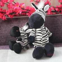 NICI plush toy stuffed doll cute zebra birthday gift christmas day lover story 1pc(China)