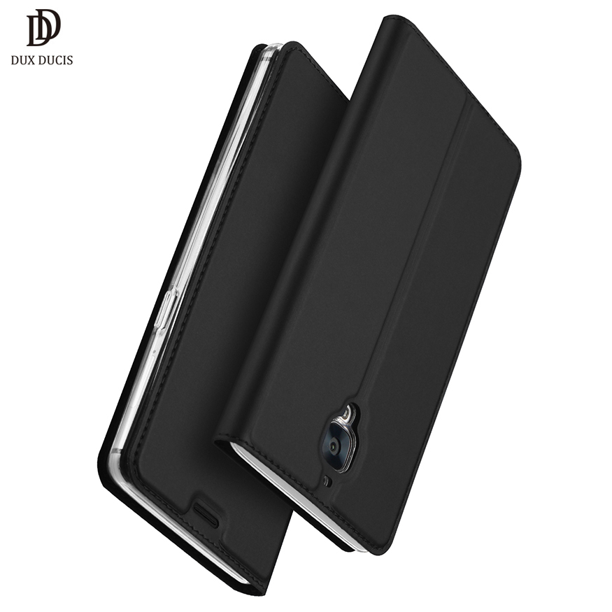 DUX DUCIS Luxury PU Leather Case Oneplus 3T Case Oneplus 3 Three Flip Cover Wallet Case One plus 3 3T Protective Case