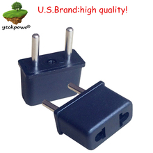 U.S.Brand high quality! 2 pcs US to EU Plug adaptor plug convertor plug adaptor Travel Adapter US to EU power plug convertor