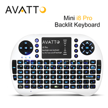 [AVATTO] High-End Backlight LED i8 PRO Wireless Gaming Mini Keyboard 2.4Ghz Touchpad Backlit Air Mouse For ipad/PS3/XBox/TV Box