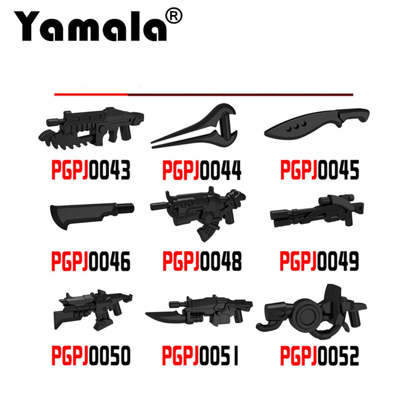 [Yamala] 10pcs/set Science Fiction Star Wars Weapon Building Blocks Model Bricks Toys For Kids Compatible With Legoingly Weapon(China (Mainland))