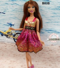 for barbie original doll clothes child doll clothing accessories a cool summer fashion mini skirt beautiful lovely dress