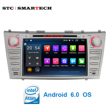 SMARTECH 2 din 8 inch Car Multimedia Player Intel Quad-Core Android 6.0 OS for Toyota Camry 07-11 support Bluetooth GPS Navi OBD