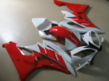 Injection mold Fairing kit for YAMAHA YZFR6 06 07 YZF R6 2006 2007 YZF600 yzfr6 06 ABS White hot red Fairings set+7gifts YA35