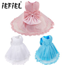 6-24M Kids Toddler Infant Baby Girls Floral Tulle Lace Princess Wedding Bridesmaid Formal Pageant Easter Party Flower Dress