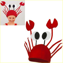 Halloween funny hats for party Unique Cute Crab Hat Cap for Easter Halloween Christmas Party Decoration  Red