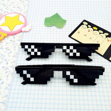 2017 The new ridicule spoofs Thug Life Glasses 8 Bit Pixel Deal With IT Sunglasses Unisex Sunglasses Toys China Popular Glasses(China)