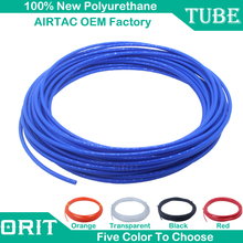 Airtac OEM Best Quality 10M/Roll Plastic Air Pipe Polyurethane PU Tube Pneumatic Hose 3mm To 16mm OD Tubing For Compressor Parts