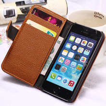 Wallet Case for iPhone 5 5S SE PU Leather Flip Style Mobile Phone Back Cover For iPhone 5S 5 S Case Stand Design with Card Slot