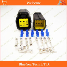 Sample,2 sets 6 Pin/way male& female electronic accelerator pedal plug,Car waterproof electrical connector for Sagitar,VW etc.