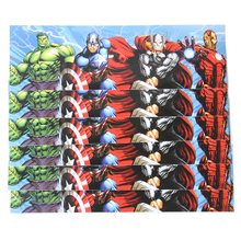 12pcs/lot The Avenger Cartoon Theme Water Bottle Label Candy Bar Decoration Kids Birthday Party Supplies Baby Shower Party Favor(China)