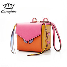Women's new style Cube handbag messenger bag female Bag vintage Solid box bag shoulder mini high quality Brand original(China)