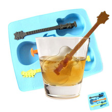 2017 ice lattice box silicone Ice Mould Drinking Tool Tray Mold Makes Ice Guitar Novelty Gifts Ice Tray and Cube Multi - purpose(China)