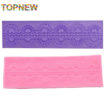 Classics Lace Shaped Silicone Mold Mould Fondant Gumpaste Cake Decorating Tool  2178