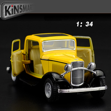 Deals Antique Classic Car 1:36 scale alloy pull back model car Retro Diecast cars toy Children's gift free shipping