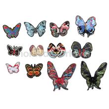 12x DIY Vintage Butterfly Patch Iron on Applique Alternative Clothing Embroidery