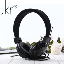 JKR-101 Wired Headphones Stereo Headset Headfone Over Ear Noise Cancelling Folding Headphone with Mic For Computer PC Cell Phone