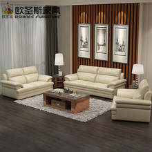 2017 new design italy Modern leather sofa ,soft comfortable livingroom genuine leather sofa ,real leather sofa set 321 seat 660A(China)