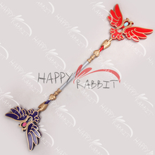 "51"" Shin Sangokumusou/Dynasty Warriors Elder Qiao Wand PVC Replica Cosplay Prop-0756"