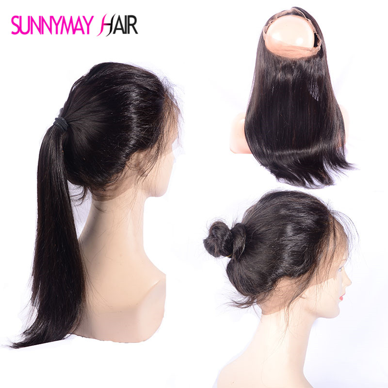 360 Lace Frontal Pre Plucked Bleached Knots 360 Frontal 9A Virgin Brazilian Straight Lace Band Frontal 360 Lace Virgin Hair  <br><br>Aliexpress