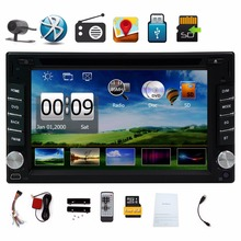Free Camera 6.2 Iinch Double 2 din GPS Navigation Car DVD Video Player radio Touch Screen Car Stereo Audio FM AM Radio Bluetooth(China)