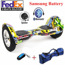 10 inch Two Wheel Self Smart Balance Scooter Electric Skateboard Hoverboard Samsung Battery Self Balancing Scooter Hover Board