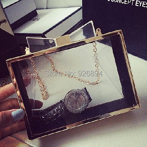 New arrival fashion lady transparent acrylic  perfume bottles wedding party clutch evening bag  chain shoulder bag free shipping<br><br>Aliexpress
