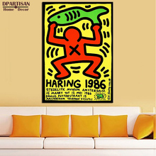 DPARTISAN Street Art 1986 Original Pop ART GICLEE poster oil painting print on canvas wall painting no frame wall pictures(China)