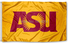 Arizona State University ASU Flag150X90CM NCAA 3X5FT Banner 100D Polyester grommets custom009, free shipping(China)