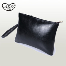 Designer handbags high quality men's hand bag fashion men's soft genuine leather bag leisure mobile phone bag envelope bags(China)