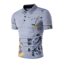 LASPERAL Brand Polo Shirt Men High Quality Short Sleeve Printed Slim Fit Polo Shirt New Summer Hip Hop Casual Polos Tops 2XL